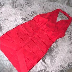 Bebe halter dress